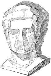 dibujo de figura estudio cabeza yeso formas simplificadas On dibujos de yeso para techos